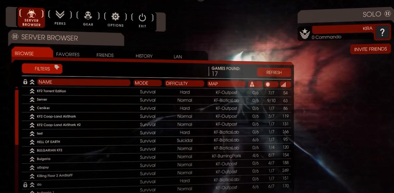 Как играть по сети в Killing Floor 2